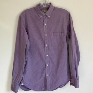 J. Crew Blue/White Gingham Button Down Size S